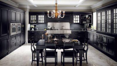 кухня SCAVOLINI BALTIMOR черная