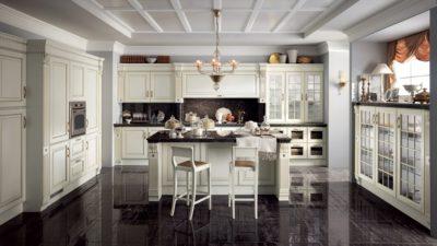 кухня SCAVOLINI BALTIMORA со стеклянным фасадами
